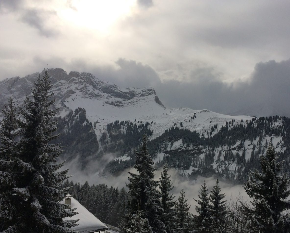 Mountains covered in snow